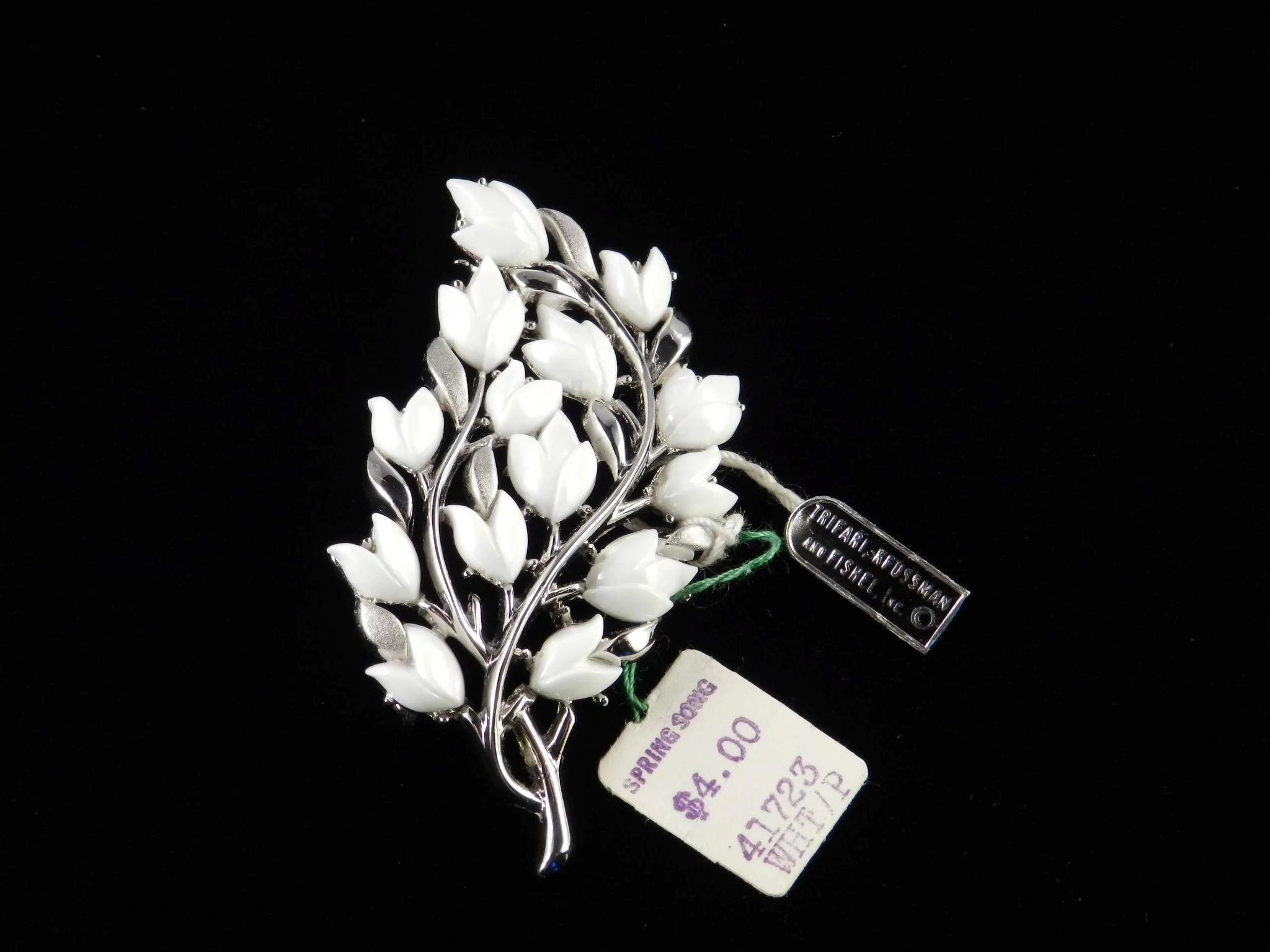 Trifari spring song thermoset flower branch brooch pin codys trifari spring song thermoset flower branch brooch pin click to expand mightylinksfo