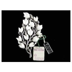 Trifari Spring Song Thermoset Flower Branch Brooch Pin