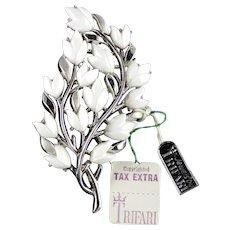 Trifari daffodil flower pin sold ruby lane trifari spring song thermoset flower branch brooch pin mightylinksfo