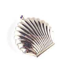 Vintage Givenchy Clam Shell Compact Cabochon Clasp
