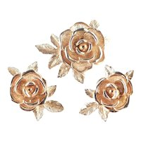 Sarah Coventry American Beauty Rose Brooch Pin Earrings Set