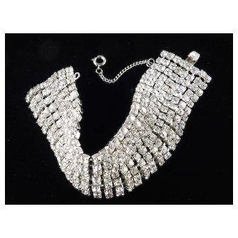 Weiss Wide Rhinestone Bracelet