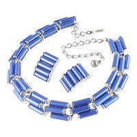 Charel Moonglow Thermoset Necklace Earrings Demi Parure Set