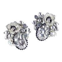 Beau Jewels Rhinestone Faux Pearl Earrings