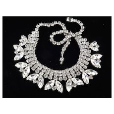 Weiss Rhinestone Collar Choker Necklace