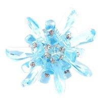 Miriam Haskell Molded Glass Crystal Rhinestone Brooch Pin