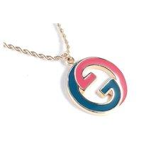 Gucci Enamel Iconic Gs Pendant Necklace