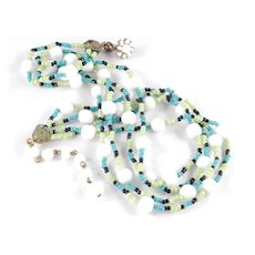 Miriam Haskell Glass Seed Bead Necklace