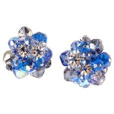 Vendome Coro Crystal Glass Bead Rhinestone Earrings