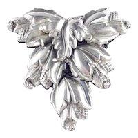Large Oak Leaf Acorn Shield Shaped Dress Clip