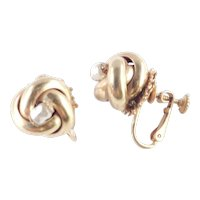 Miriam Haskell Faux Baroque Pearl Knot Earrings