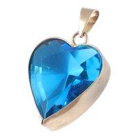 Givenchy Art Glass Heart Pendant