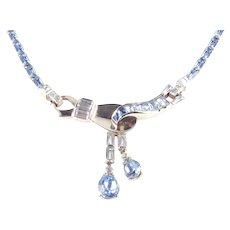 Mazer Bros Rhinestone Dangle Necklace