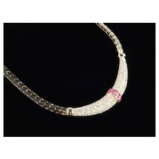 Christian Dior Rhinestone Necklace