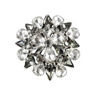 Domed Rhinestone Star Brooch Pin