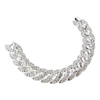 Trifari Cavalcade Rhinestone Bracelet