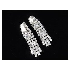 Rhinestone Cascade Waterfall Dangle Earrings