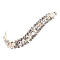 Smoky Glass Aurora Borealis Rhinestone Bracelet