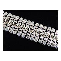 Coro Wide Rhinestone Bracelet Pristine