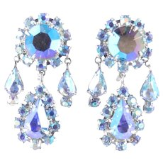 Vendome Vendôme Coro Rhinestone Girandole Pendant Chandelier Earrings