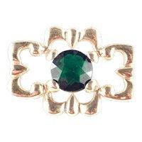 Art Glass Nouveau Sash Brooch Pin