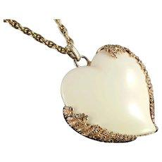 Harry Rosenfeld Brutalist Lucite Heart Pendant Necklace