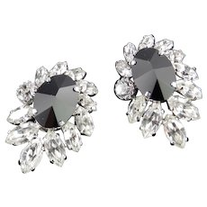 Rhinestone Art Glass Earrings Earrings