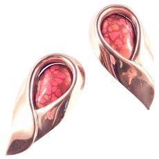 Matisse Renoir Sari Copper Enamel Earrings