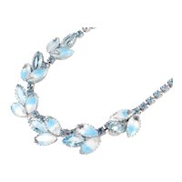 Givre Rhinestone Art Glass Necklace