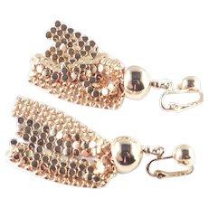 Mesh Tassel Dangle Fringe Earrings