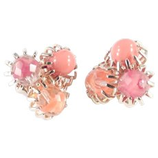 Castlecliff Givre Glass Bead Earrings