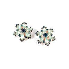 Frosted Rhinestone Star Earrings