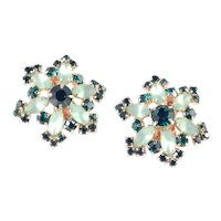 Frosted Rhinestone Star Earrings