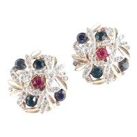 Marcel Boucher Rhinestone Earrings