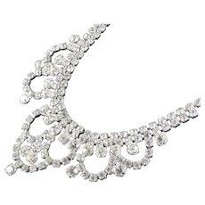 Rhinestone Festoon Garland Bib Necklace
