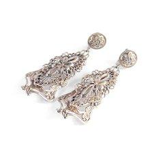 Art Nouveau Layered Dangle Earrings