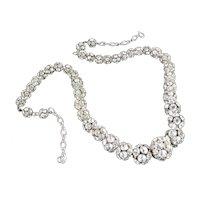 Graduated Rhinestone Ball Bead Necklace