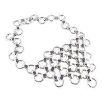 Coro  Mid Century Modern Chain Mail Bib Necklace