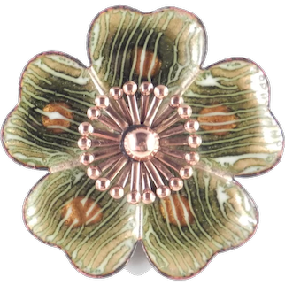 Matisse Renoir Leilani Enamel Copper Brooch Pin