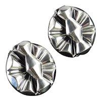 Sauteur Renoir Sterling Silver Mid Century Modern Earrings