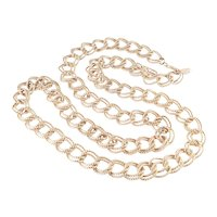 Miriam Haskell Double Twisted Curb Link Opera Length Chain Necklace