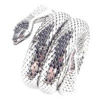 Whiting & Davis Triple Coil Mesh Snake Serpent Bracelet