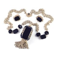 Miriam Haskell Pendant Necklace Earring Demi Parure Set