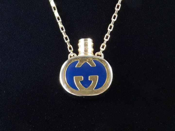 df2b22138 Authentic Vintage Gucci Italy Enamel Perfume Bottle Necklace ...
