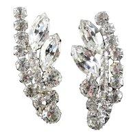 DeLizza Elster D & E Juliana Rhinestone Earrings