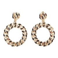 Vendome Chain Link Hoop Dangle Earrings