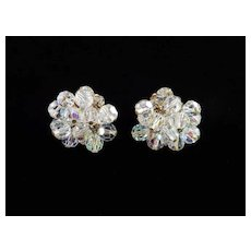 D & E Juliana Rhinestone Glass Crystal Bead Pompom  Dangle Earrings