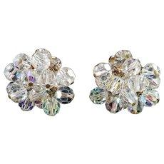 D & E Juliana Rhinestone Glass Crystal Bead Pompom  Dangle Earrings