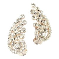 DeLizza $ Elster Juliana Rhinestone Climber Earrings Pristine