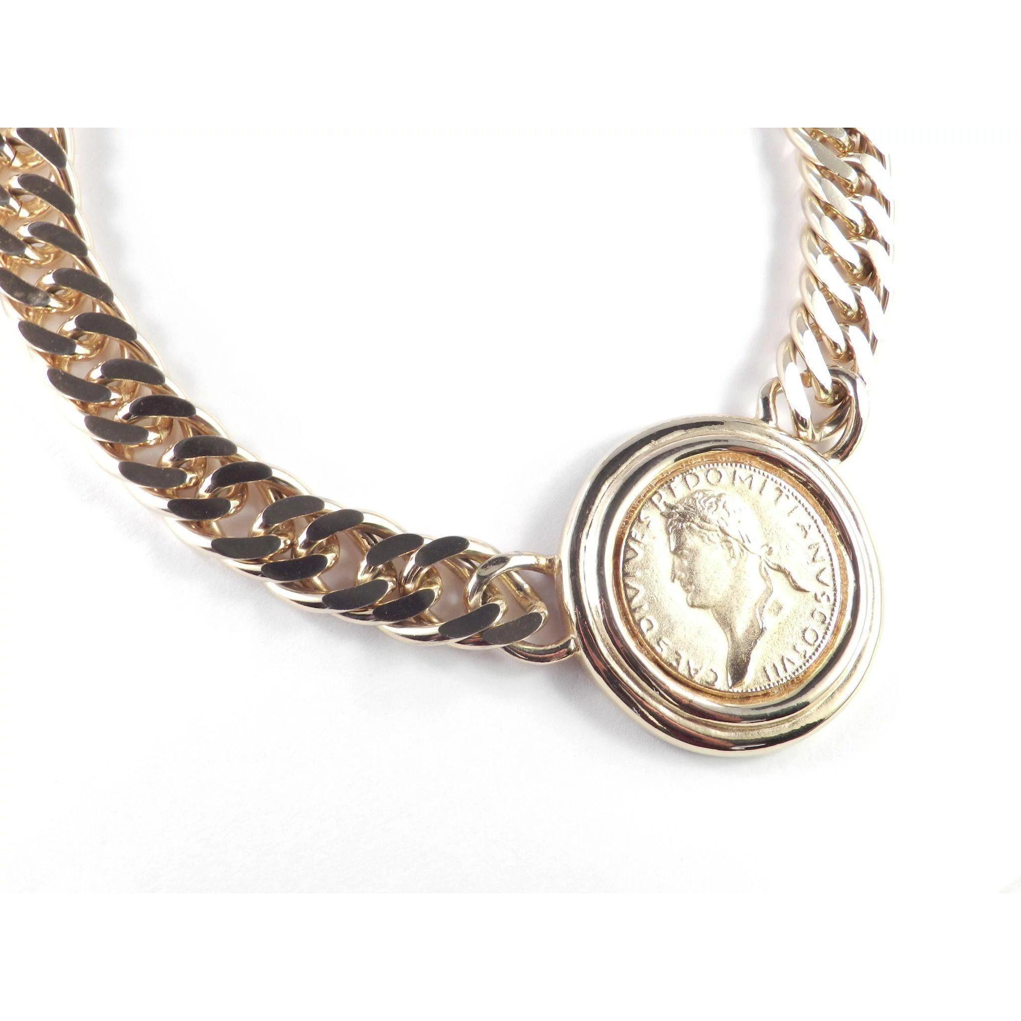 product jewelry gold roman coin necklace fine silverlust